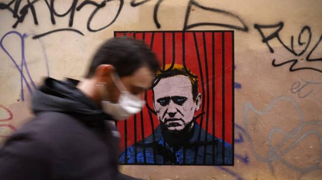 Póster del opositor ruso Alexei Navalny
