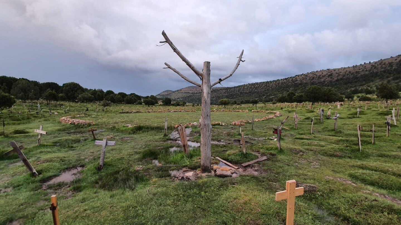 Cementerio Sad Hill, escenario de 'El bueno el feo y el malo'.