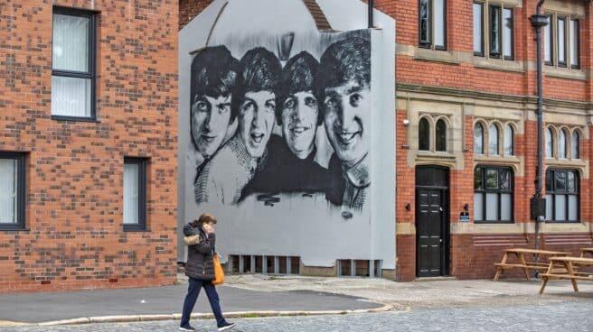 Mural de The Beatles en Liverpool