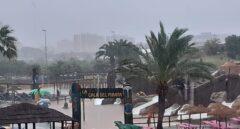 Una tromba de agua inunda Benicasim