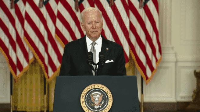 Joe Biden, presidente de los EEUU, en comparecencia desde la Casa Blanca