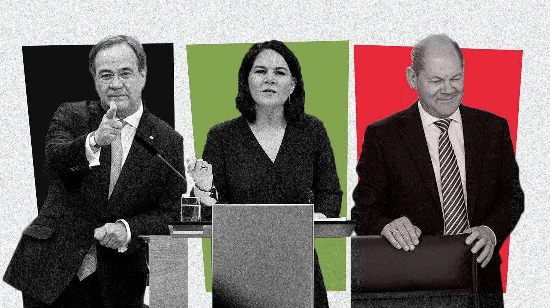 Imagen de Laschet, Baerbock y Scholz