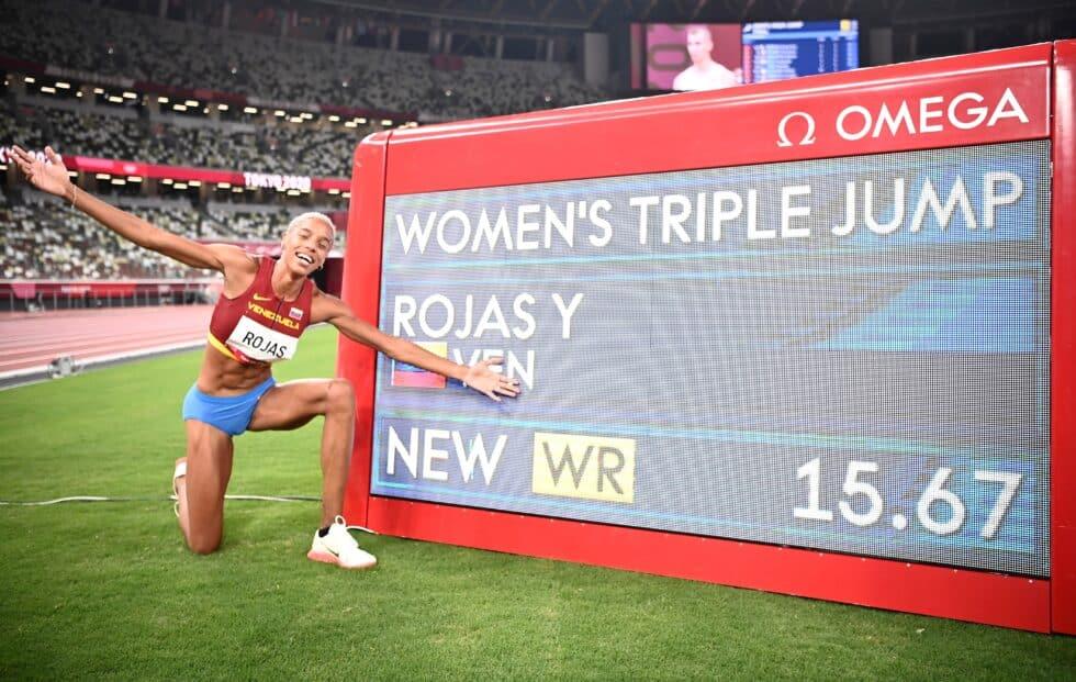 Yulimar Rojas, tras batir el récord de triple salto