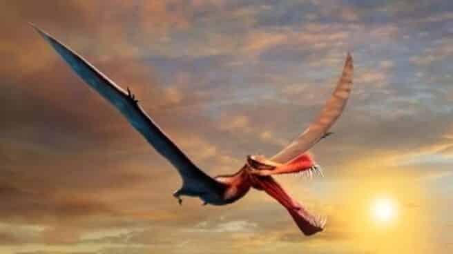 Impresión artística del dinosaurio volador de Australia Thapunngaka shawi.