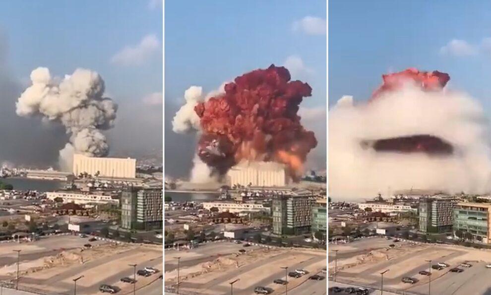La explosión en el puerto de Beirut sucedió a las 18:08 del 4 agosto de 2020