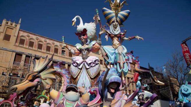 Imagen de carroza de las últimas Fallas valencianas celebradas en 2019