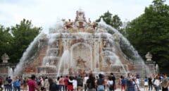 La Granja de San Ildefonso celebra San Luis con el encendido de sus fuentes
