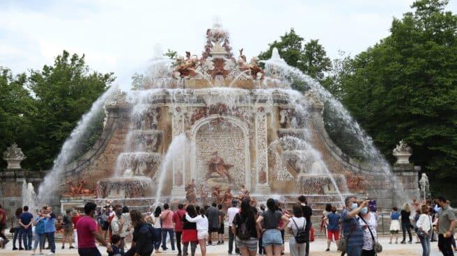 Inauguración de la Temporada de Fuentes de los Jardines del Palacio Real de La Granja de San Ildefonso, en La Granja de San Ildefonso (Segovia)
