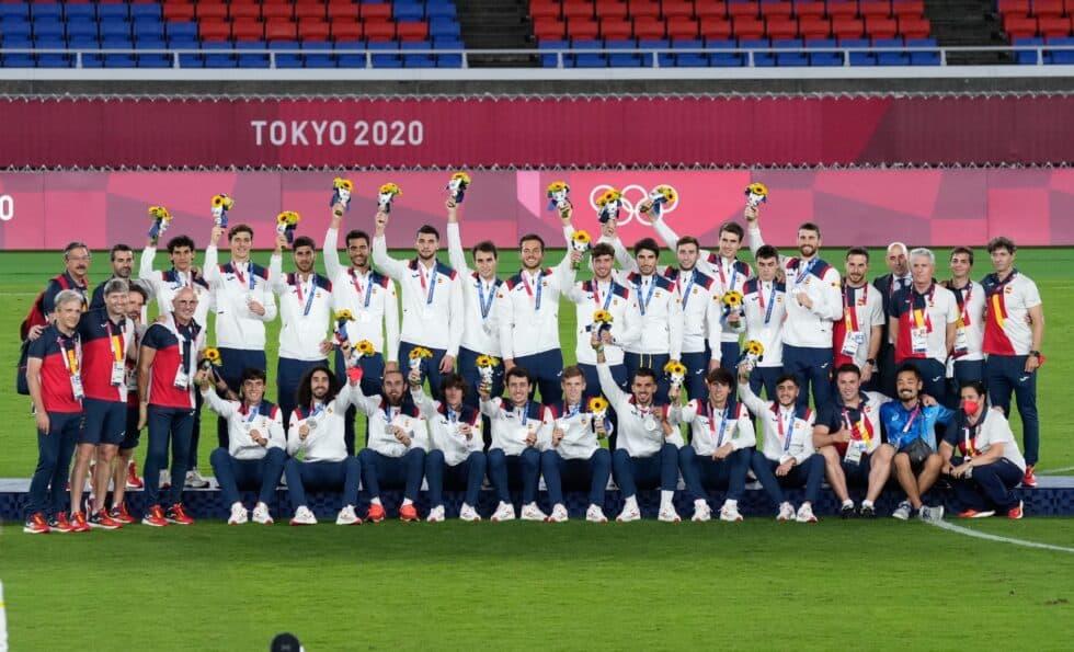 La selección masculina de fútbol, plata en Tokio 2020