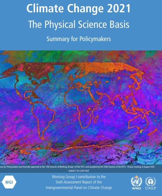 Cubierta del informe del IPCC.