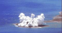 Un volcán submarino hace aflorar una nueva isla cerca de Japón