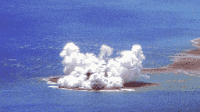 Nacimiento de una nueva isla muy cerca de Japón