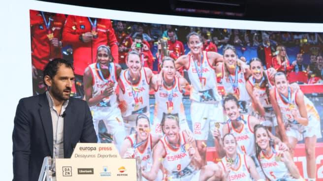 El presidente de la Federación Española de Baloncesto, Jorge Garbajosa