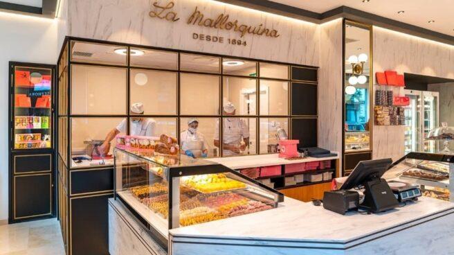 Imagen del interior de la pastelería La Mallorquina en la calle Velázquez 39.