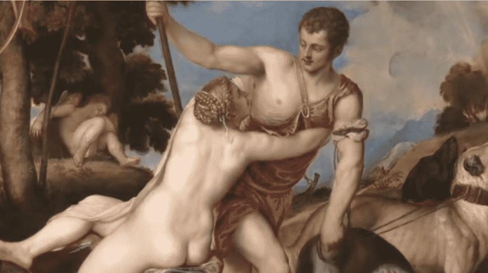 'Venus y Adonis', de Tiziano (1554)