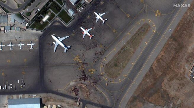 Vista aérea del aeropuerto de Kabul.