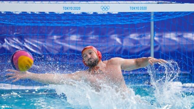 Dani Pinedo, en el partido por el bronce de los Juegos de Tokio