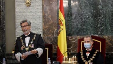"""Lesmes considera """"urgente"""" que el CGPJ """"desaparezca del escenario de la lucha partidista"""""""