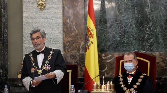 Lesmes y el Rey en la apertura del año judicial.