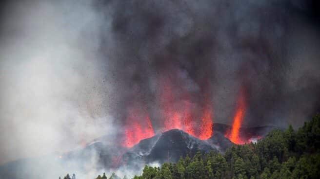 Erupción volcánica en la Cumbre Vieja de La Palma.