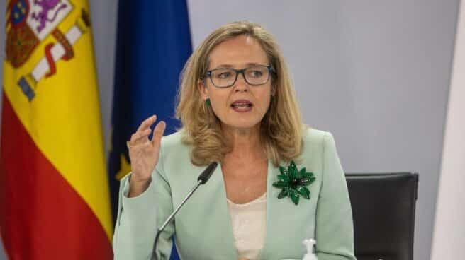 La vicepresidenta primera y ministra de Economía Nadia Calviño