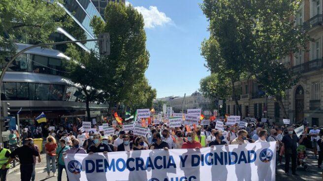 Manifestación en Madrid de AUGC Guardia Civil.