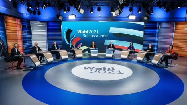 El último debate con siete candidatos en las elecciones alemanas