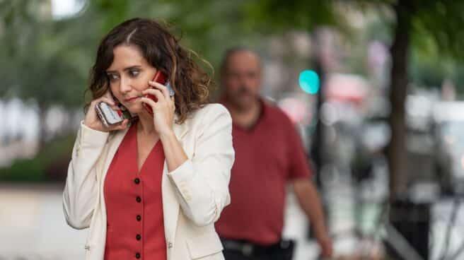 La presidenta de la Comunidad de Madrid, Isabel Díaz Ayuso, en Washington, EEUU.