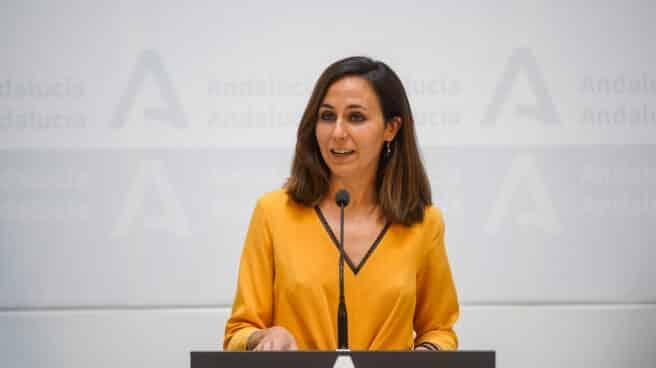 La ministra de Derechos Sociales y Agenda 2030, Ione Belarra, en el Palacio de San Telmo de Sevilla.