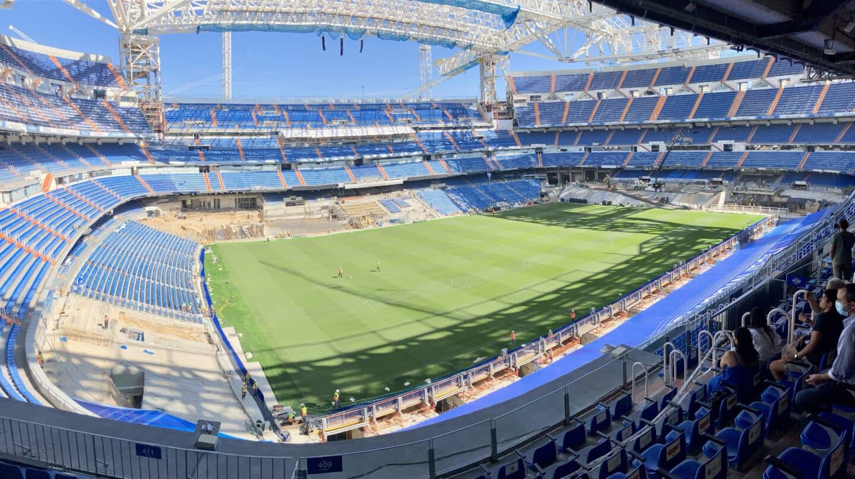Así luce el césped del Santiago Bernabéu