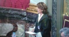 Dolores Delgado aboga por reformar el estatuto de los fiscales ante el PP, que pide apartarla