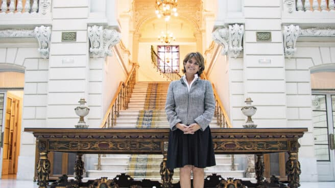 La Fiscal General del Estado, Dolores Delgado, en la sede de la Fiscalía en Madrid