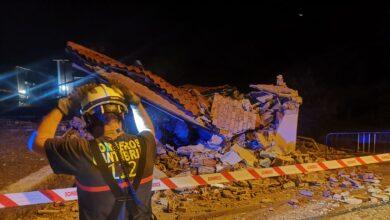 Se derrumba parte de un edificio en Santander poco después de ser desalojado