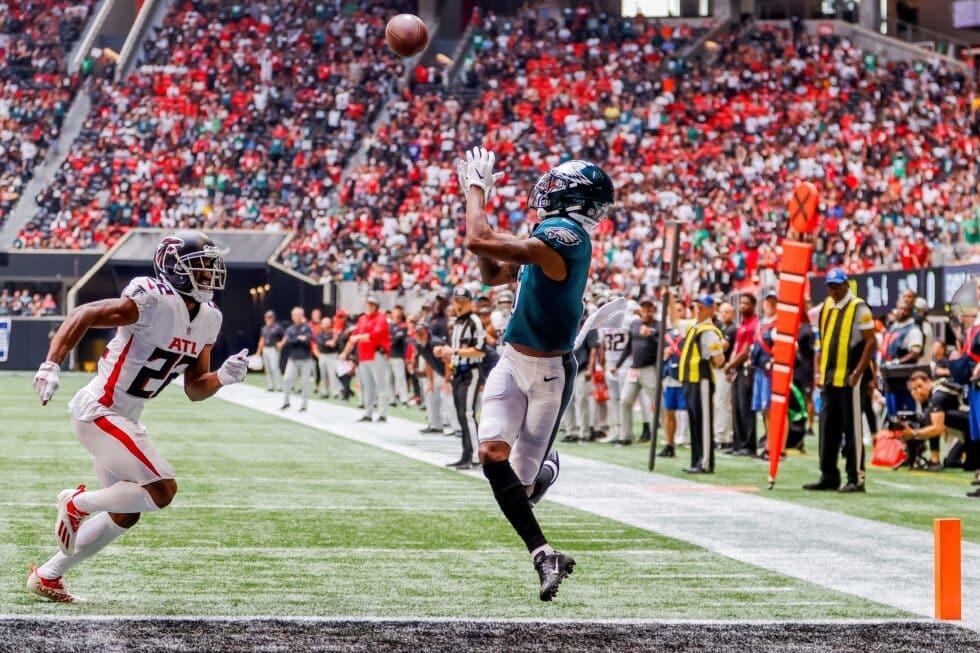 Imagen del partido entre los Philadelphia Eagles y los Atlanta Falcons del 12 de septiembre