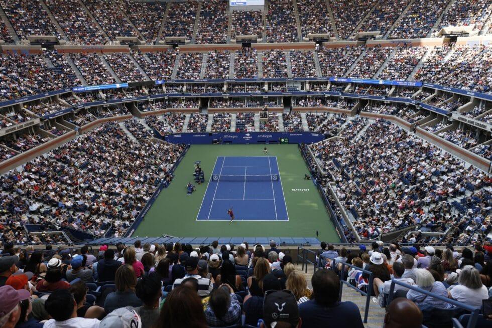 La pista de tenis Arthur Ashe, la más grande del mundo, durante la final femenina del US Open