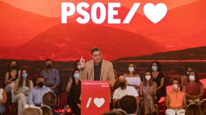 Pedro Sánchez, en un acto del PSOE en Sevilla.