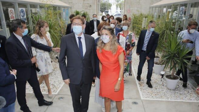 Ximo Puig y Yolanda Díaz.