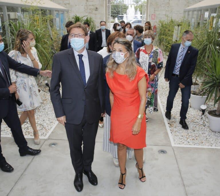 """Yolanda Díaz sostiene ante Ximo Puig que la Comunidad Valenciana es la """"peor financiada de España"""""""