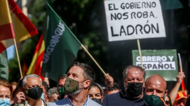 Santiago Abascal, en la manifestación del sindicato Solidaridad.