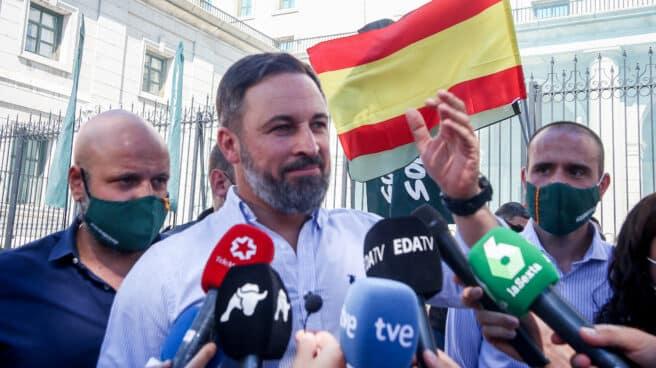 Santiago Abascal, en una manifestación del sindicato Solidaridad.