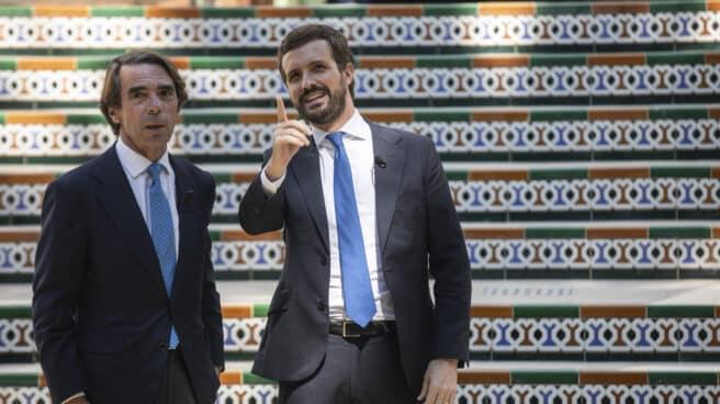 Aznar y Casado, en la Convención del PP.