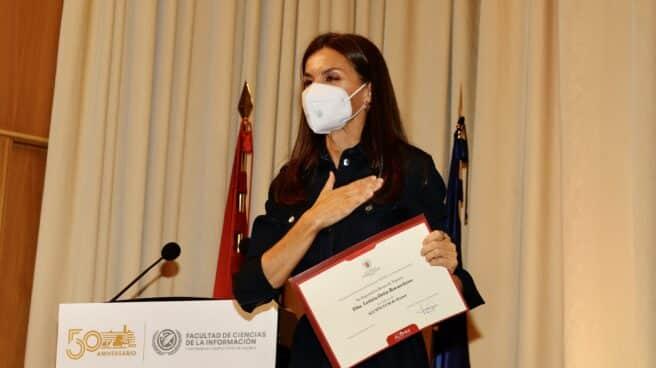 La Reina Letizia, en la facultad de Ciencias de la Información.