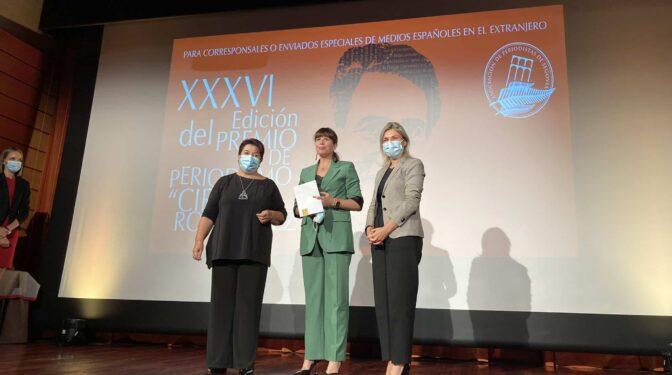 La periodista Mavi Doñate (RTVE) gana el premio Cirilo Rodríguez