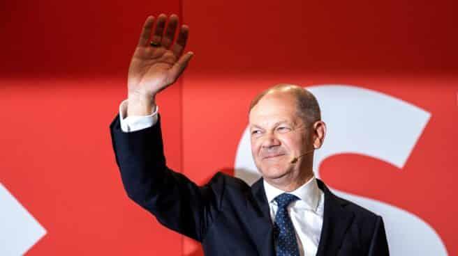 El líder del SPD, Olaf Scholz, ganador de las elecciones en Alemania