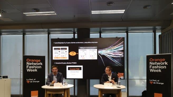 Diego Martínez, director general de negocio B2C y Jean François Fallacher, consejero delegado de Orange.