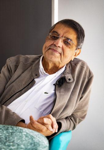 El escritor nicaragüense Sergio Ramírez, durante su entrevista con El Independiente
