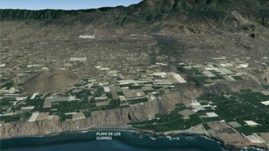 Protección Civil espera que la lava impacte en el mar por la playa de Los Guirres