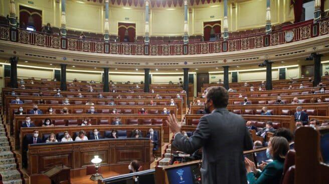 Pablo Casado, en la sesión de control del Congreso.