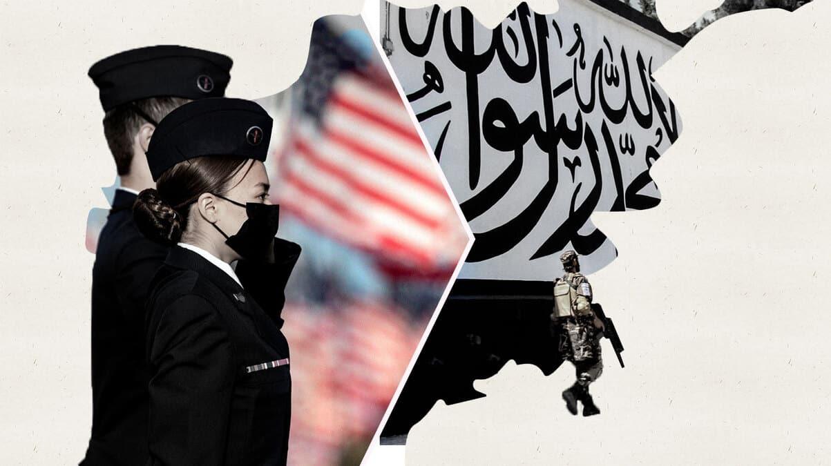Fotomontaje de soldados americanos hace 20 años y soldados americanos actualmente en Afganistán