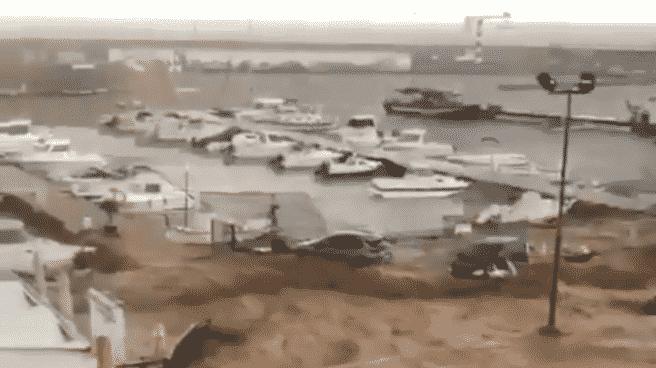 Zona de Alcanar (Tarragona) afectada por importantes inundaciones